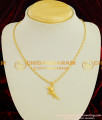 SCHN002 - College Girls Pendant Trendy Dolphin Fish Dollar Real Gold Like Jewelry