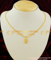 SCHN017 - 24ct Gold Plated Short Pendant with Om Dollar and Shining Chain