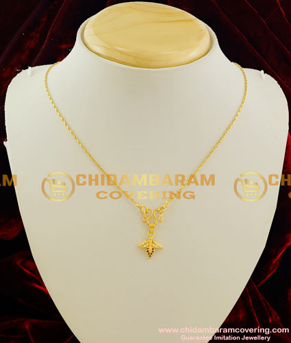 SCHN028 – Beautiful Gold Plated Multi Stone Flower with Leaf Design Pendant with Wheat Chain