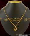 SCHN031 - Teens Short Chain With Heart Pendant Design Imitation Jewelry Online