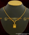 SCHN040 - Lord Perumal Pendant Designs with Short Chain For Men
