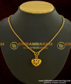 SCHN045 - Latest Gold Plated Jewellery Collections Heart Pendant With Chain Online