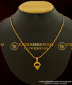 SCHN092 - Daily Wear Small Pendant with Chain Gold Plated Jewellery Online