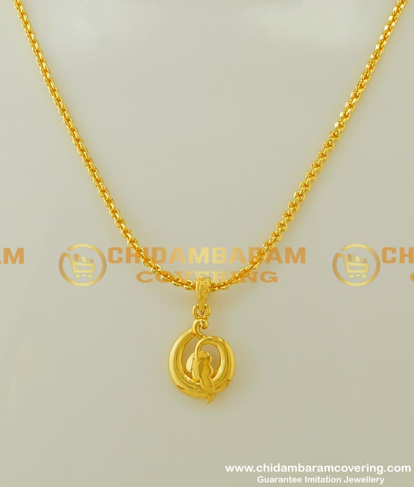 SCHN159 - Beautiful Modern Gold Pendant Leaf Design with Chain for Female