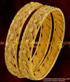BNG004 - 2.8 Size Broad Twisted Spring Design Guarantee Bangles Collection Online