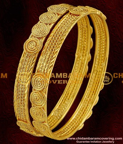BNG005 - 2.6 Size Handmade Twisted Spring Design Guarantee Plain Bangles Collection Online
