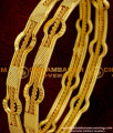 BNG011 - 2.8 Size Latest Gold Design Exclusive Bridal 2 Pcs Set Bangles Jewelry Collections Online