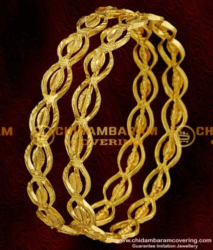 BNG015 - 2.6 Size Latest Kerala Light Weight Shiny Oval Model Bangles Buy Online