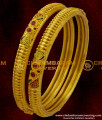 BNG020 - 2.6 Size Forming Gold Enamel Bangles Design Latest Fashion Jewellery Shop Online