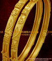 BNG023 - 2.4 Size Two Pcs Set Leaf Design Forming Gold Design Handmade Bangle Shop Online