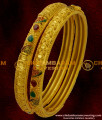 BNG024 - 2.6 Size AD Stone Fitted Gold Forming Bangle South Indian Bangle Collections Online