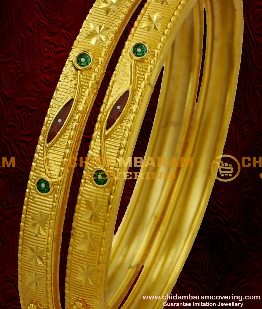 BNG025 - 2.6 Size Beautiful Matte Finish Designer Bangle Indian Forming Bangle Collections Online