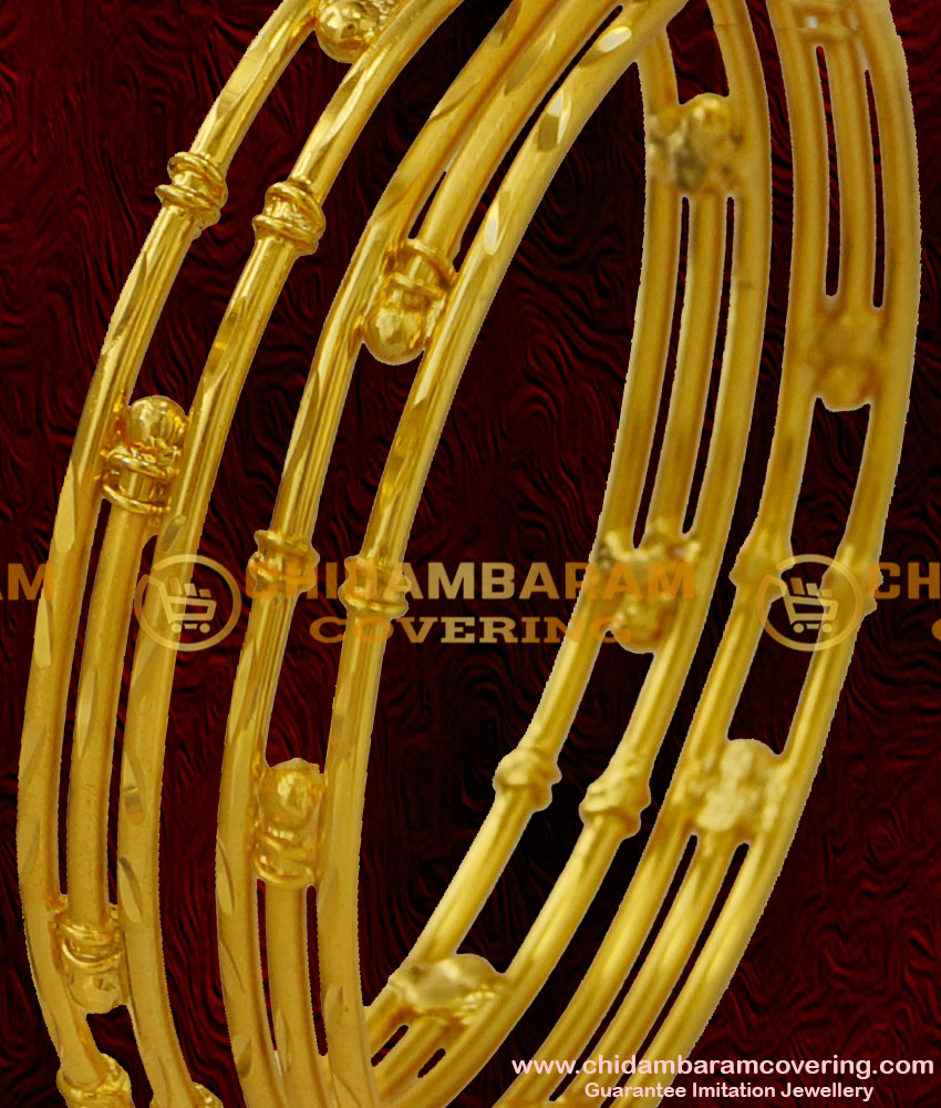 BNG029 - 2.4 Size Handmade Gold Like Forming Bangle Imitation Jewellery Shop Online