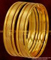 BNG040 - 2.6 Size Stylish Shiny Design Six Pieces Thick Heavy Bangles Online Collection