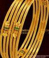 BNG048 - 2.8 Size Gold Plated Kambi Bangles Enamel Design Set for Women Online