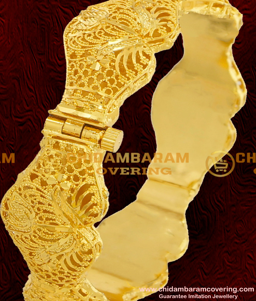 BNG067 - 2.6 Size Screw Type Designer Kada Bangles Single Piece for All Occasions