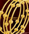 BNG069 - 2.4 Size Plain Golden Balls Pipe Bangles Party Wear Collections Online