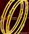 BNG070 - 2.4 Size South Indian Kambi Bangles Enamel Design Gold Plated Bangles