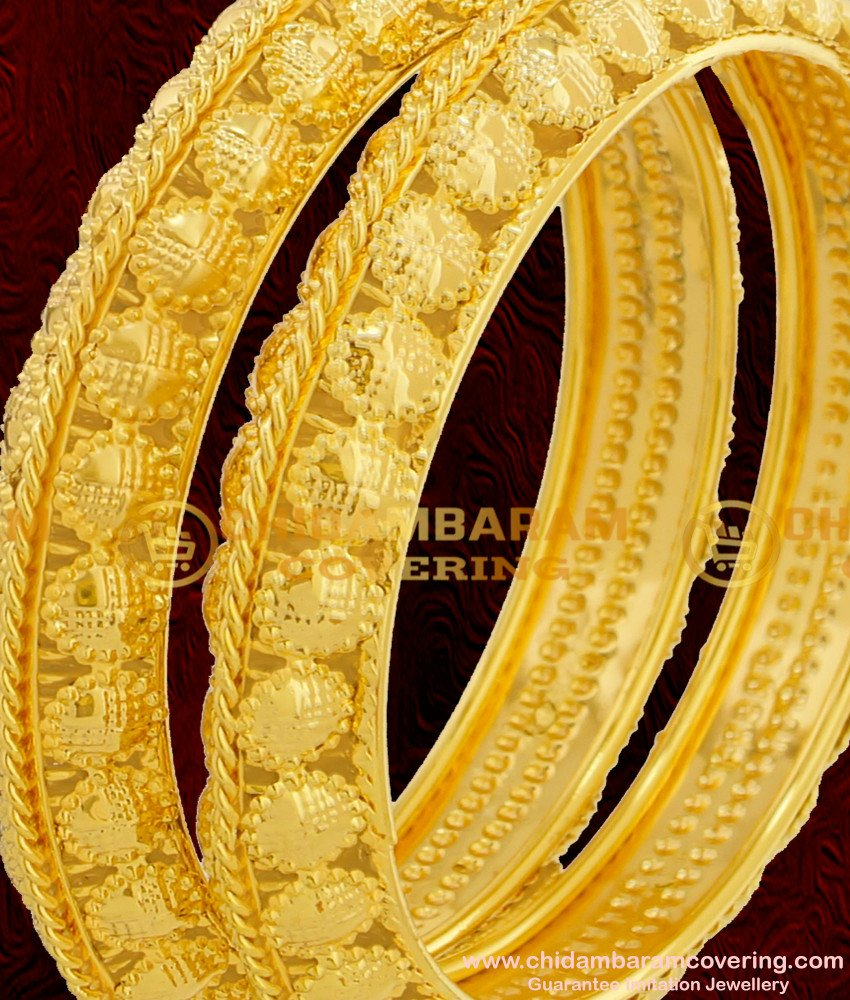 BNG071 - 2.6 Size Grand Look Maharani Bangles Designs High Quality Bangles Gold Plated Jewellery Online