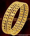 BNG076 - 2.8 Size Latest Bangles Design Light Weight Gold Plated Bangles Online