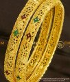BNG079 - 2.6 Size Calcutta Bangles Design 1 Gram Gold Plated Jewelry
