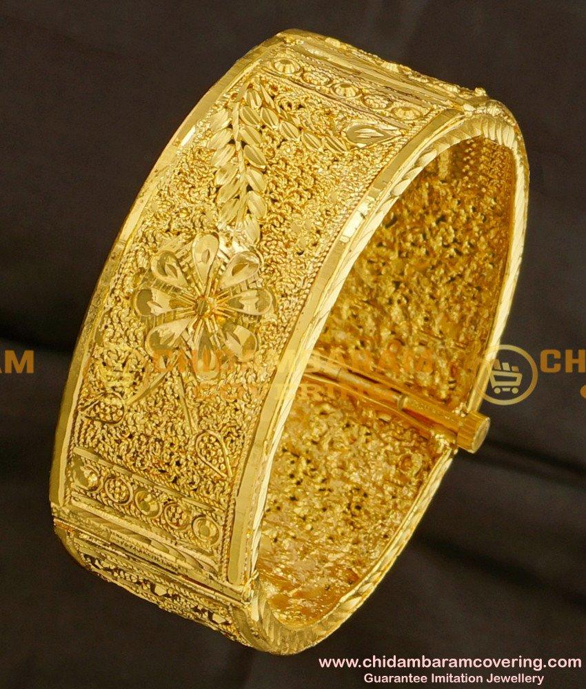 BNG087 - 2.6 Size Latest Kada Bangle Designs 1 Gram Guarantee Bangles Online