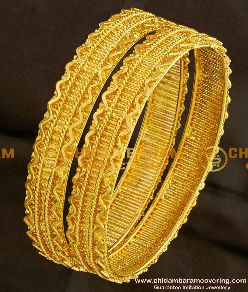 BNG090 - 2.4 Size South Indian Traditional Broad Guarantee Bangles