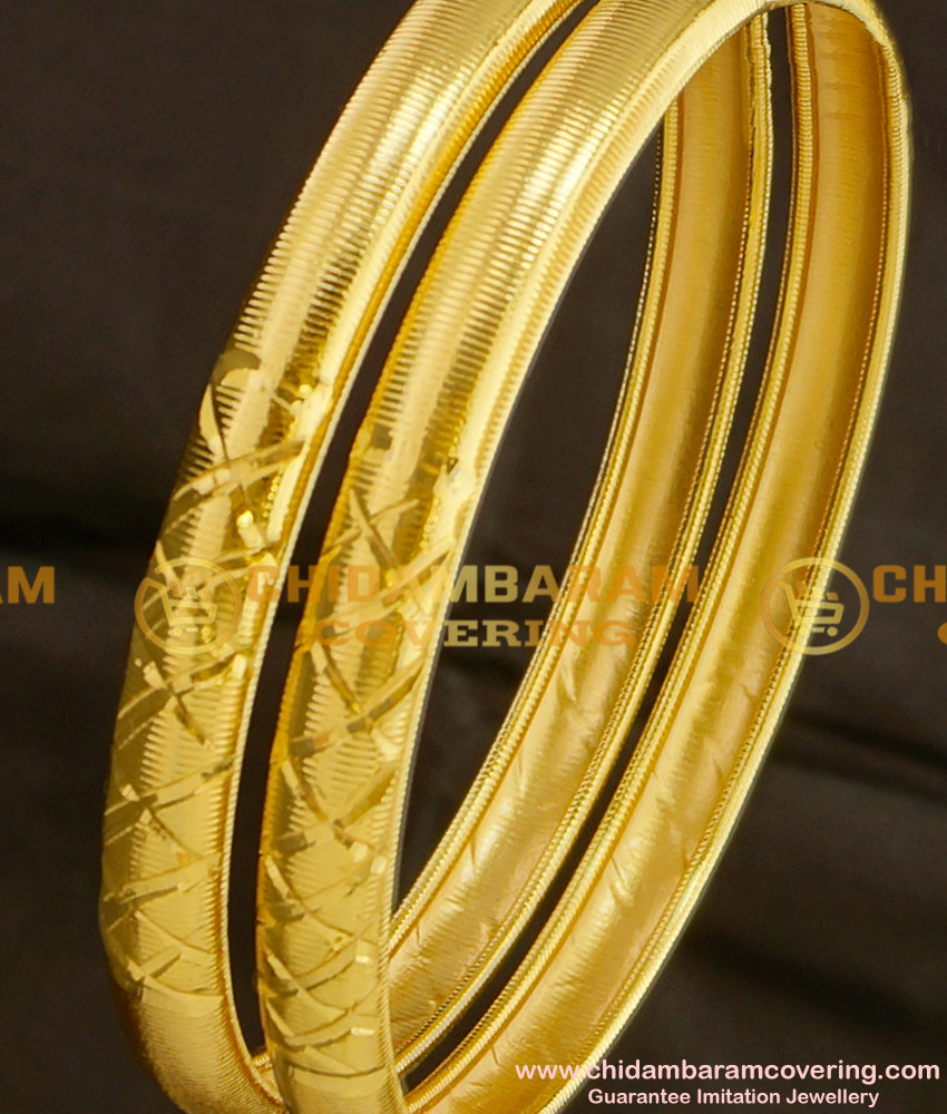 BNG095 - 2.8 Light Weight Daily Wear Shiny Thin Bangle Designs with Price Buy Online