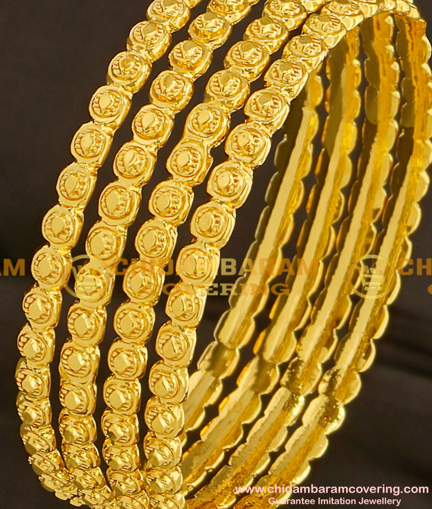 BNG096 - 2.6 Size Classic Design Hot Sale Bangles 4 Pcs Set Daily Wear Collection Online