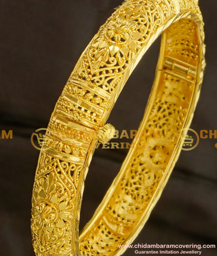 BNG100 - 2.8 Size Bombay Design Round Openable Mini Kada Single Bangle for Ladies