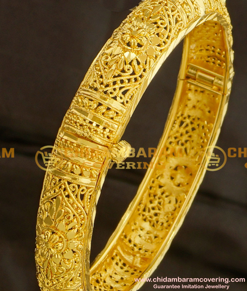 BNG100 - 2.4 Size Bombay Design Round Openable Mini Kada Single Bangle for Ladies