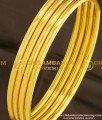 BNG104 - 2.8 Size Real Gold Look Solid Plain Bangles (Set Of 4 Bangles) Guarantee Bangles Online