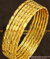 BNG108 - 2.8 Size Traditional Lakshmi Bangles Design Set Of 6 Pcs for Daily Use