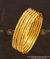 BNG111 - 2.8 Size Bridal Wear One Gram Gold Glass Cutting Design Bangles Online