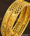 BNG117 - 2.4 Size South Indian Designer Gold Finish Bangles Design Online