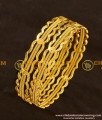 BNG119 - 2.8 Size Bridal Wear Thick Twisted Bangles Bridal Wear Bangle Collection Online