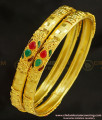 BNG229 - 2.8 Size New One Gram Forming Gold Stone Bangles Design Indian Wedding Bangles Set Online