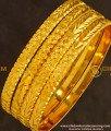 BNG131 - 2.8 Size New Model Golden Colour 4 Pieces Non Guarantee Bangles Set Online