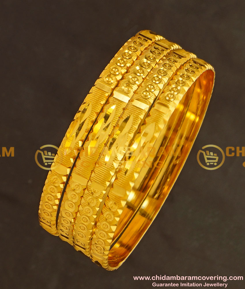 BNG132 - 2.4 Size Light Weight Non Guarantee Bangle Set Of 4 Pieces Buy Online