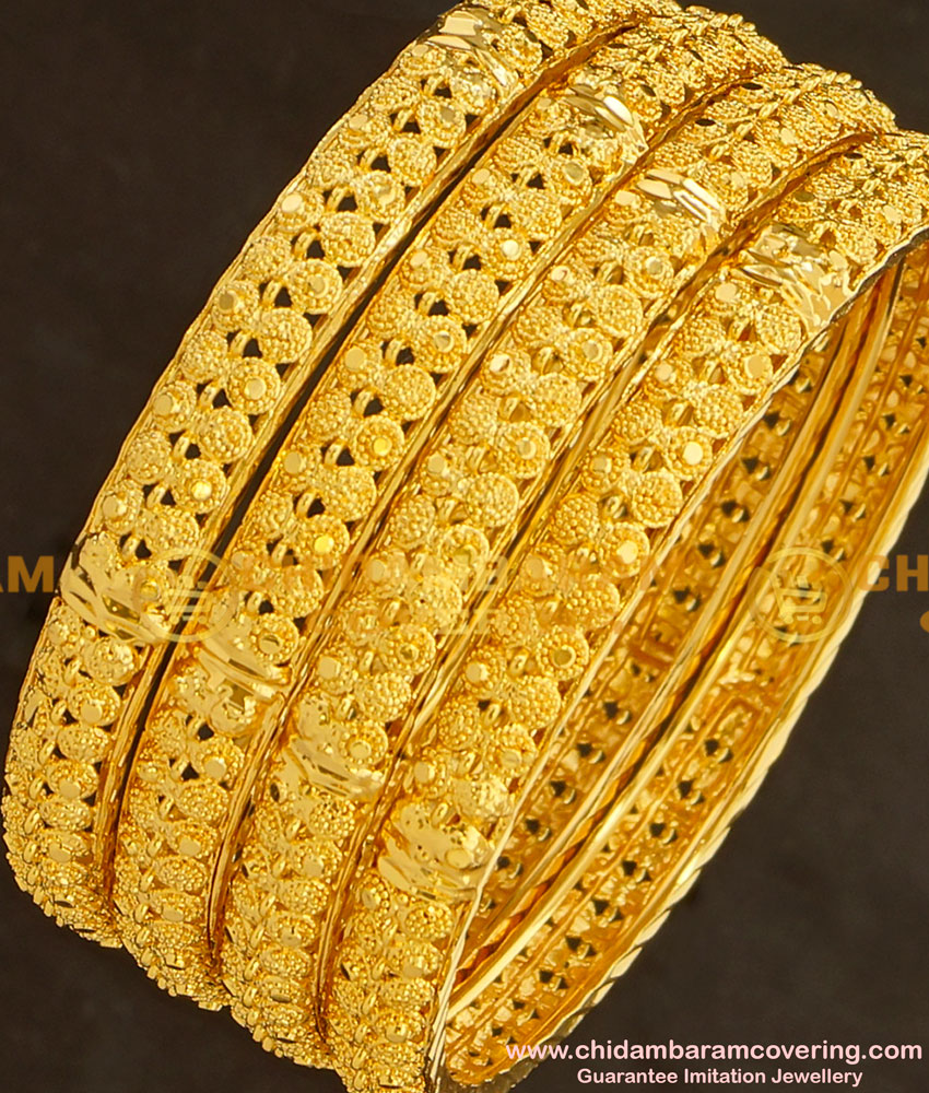 BNG135 - 2.8 Size Beautiful Indian Bridal Bangles Collection Set Of 4 Pieces Buy Online