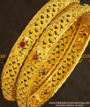 BNG140 - 2.6 Size Elegant Finish Light Weight Die Gold Stone Bangles Online