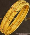 BNG141 - 2.8 Size Simple Look Light Weight Mansiyaorange Die Gold Bangles Online