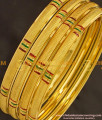 BNG143 - 2.6 Size Daily Wear Light Weight Non Guarantee Bangle Set Of 4 Pieces Buy Online