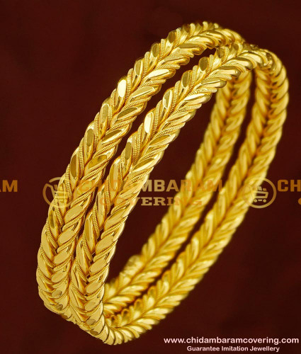 BNG153 - 2.8 Size New Model High Quality Shiny Cutting Designer Strong Solid Bangles Online