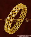 BNG156 - 2.4 Size Semi Precious Full White Stone Designer Bangles for Women