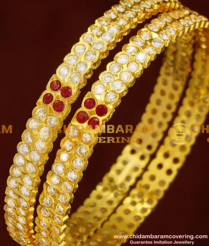 BNG160 - 2.6 Size Traditional Impon Gold Bangle Design First Quality Panchaloha Bangles Online