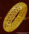 BNG165 - 2.4 Size 1 Gram Gold Party Wear Broad Single Piece Designer Bangle Collection Online
