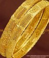 BNG170 - 2.6 Size New Pattern Gold Look Bangles Design Gold Plated Jewellery Online