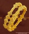 BNG172 - 2.6 Size Unique Light Weight Party Wear Bangles Design One Gram Jewellery Online