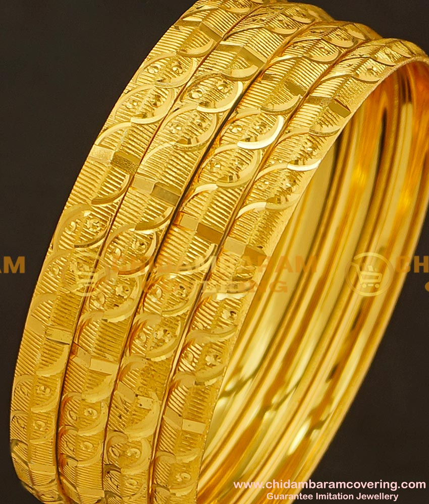 BNG179 - 2.10 Size Daily Wear Light Weight Non Guarantee Bangle Set Of 4 Pieces Buy Online